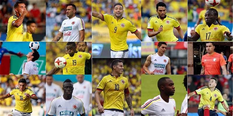 Selección Colombia jugadores a convocar