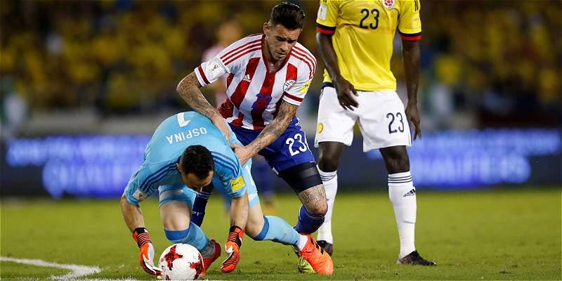 Colombia perdio contra Paraguay