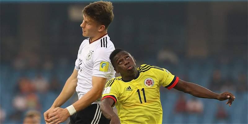 Alemania no tuvo piedad de Colombia y lo goleó 4-0 en Mundial Sub 17