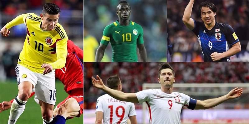 Así le ha ido a Colombia contra sus rivales del Mundial de Rusia 2018