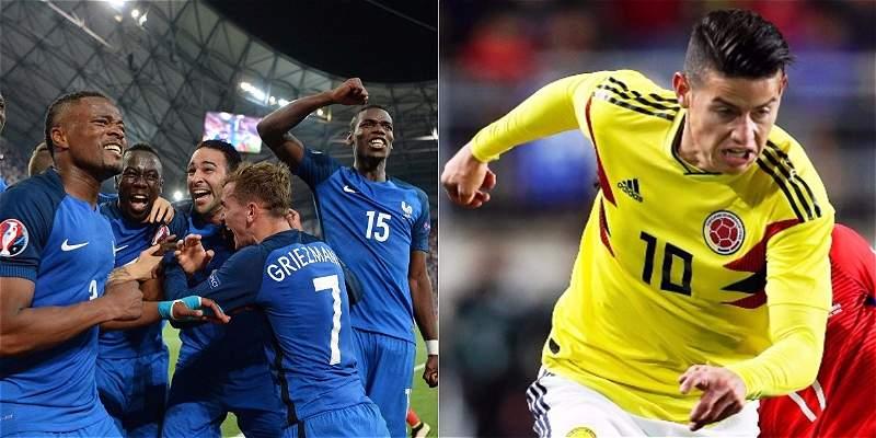Colombia amistoso con Francia