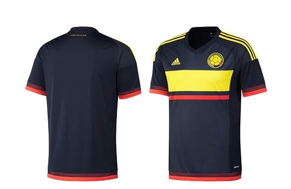 Así luce la camiseta suplente de la Selección Colombia.