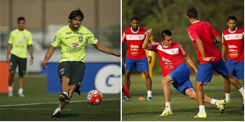 Brasil pone a prueba su maquinaria contra Costa Rica, que estrena DT