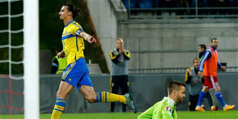 Suecia venció 0-2 a Liechtenstein y aseguró repechaje a la Euro-2016
