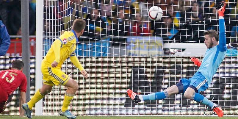 Con un De Gea fantástico, España derrotó 0-1 a Ucrania