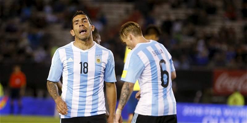 Tévez no se siente cómodo y lleva más de 4 años sin goles en selección