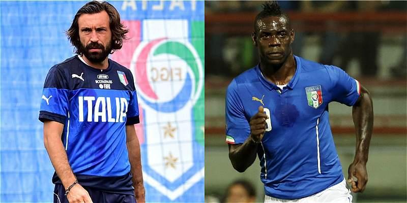 Pirlo y Balotelli, las grandes ausencias de Italia para la Eurocopa
