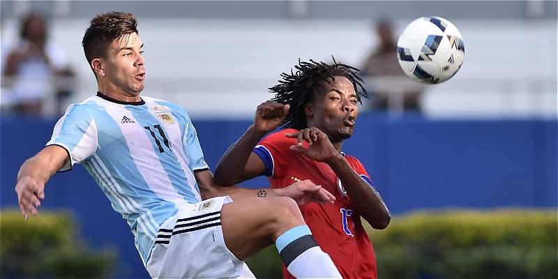 Argentina le ganó 3-1 a Haití, en su partido de preparación para Rio