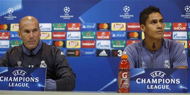 Zidane y Varane, molestos con las palabras del presidente de Francia