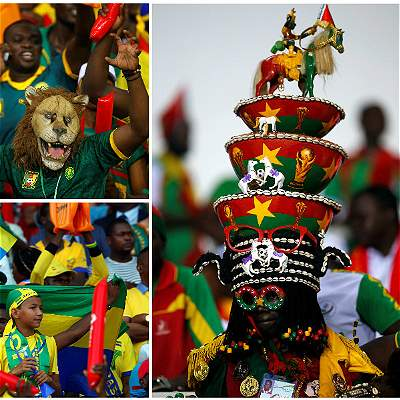 Hinchas Copa Africana / Collage