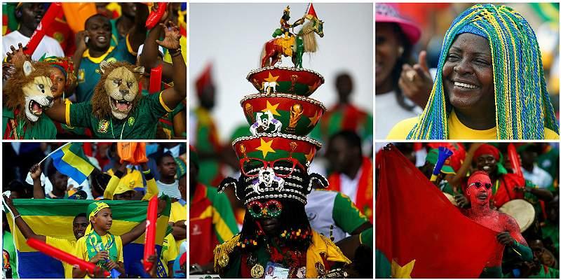 Las coloridas tribunas de la Copa Africana de Naciones 2017, en fotos