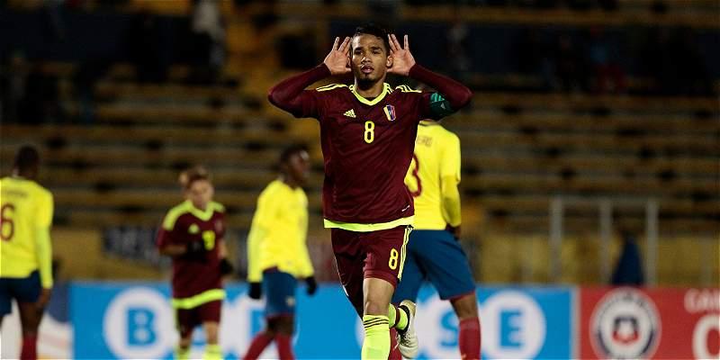 Venezuela sigue sorprendiendo en el Sub-20 y venció 2-4 a Ecuador