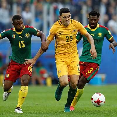Camerún y Australia siguen sin ganar en Confederaciones: empataron 1-1