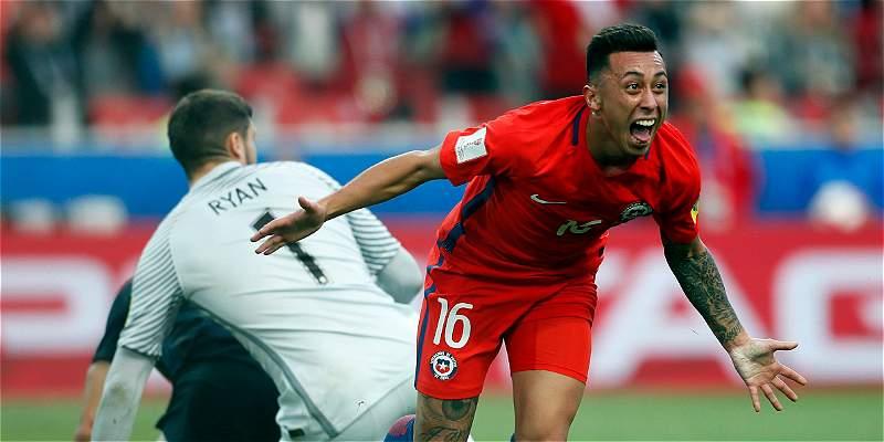 Chile sufrió, empató 1-1 con Australia y a \'semis\' de Confederaciones