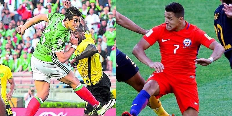 Reto para Chile y México: ganar por primera vez a sus rivales europeos