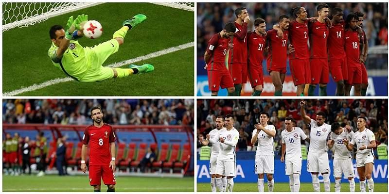 Las mejores fotos del emocionante partido entre Portugal y Chile