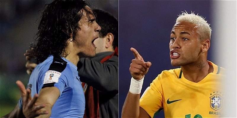 Neymar quiere quitarle a Cavani el título de goleador de Eliminatoria