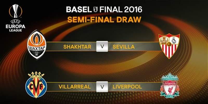Shakhtar-Sevilla y Villarreal-Liverpool, semifinales en Europa League