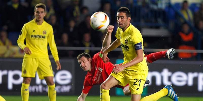 Villarreal pegó primero en \'semi\' de Europa League: 1-0 a Liverpool