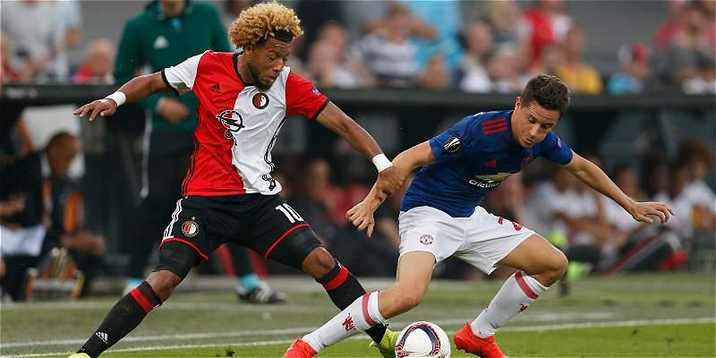 United decepcionó en su debut en Europa League: cayó 1-0 con Feyenoord