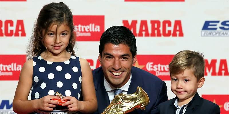 Luis Suárez recibió su segunda Bota de Oro, al ser goleador de Europa
