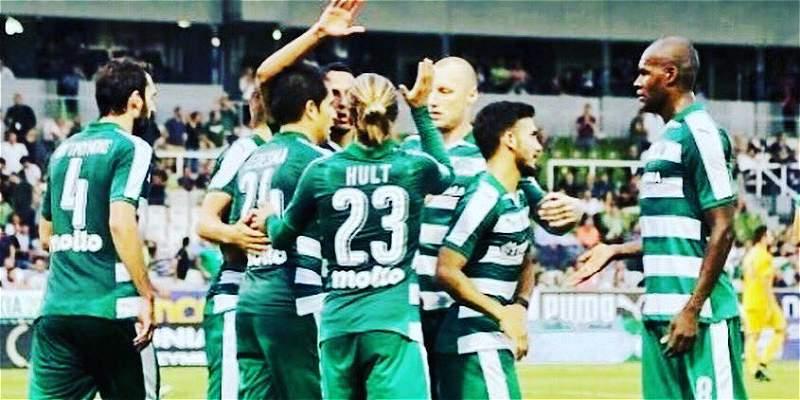 Víctor Ibarbo, dos goles en empate del Panathinaikos en Europa League