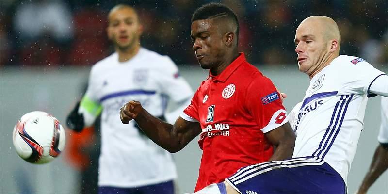 Con Jhon Córdoba todo el partido, Mainz igualó 1-1 con Anderletch