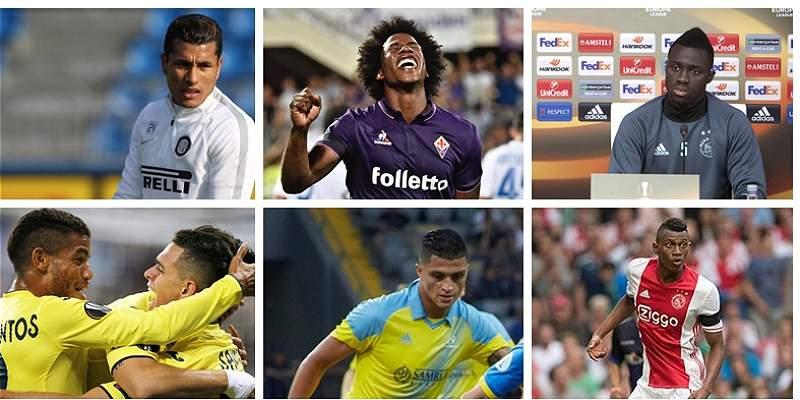 Los colombianos que tendrán acción este jueves en la Europa League