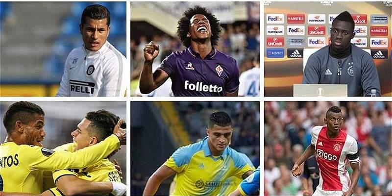 Seis colombianos buscarán avanzar en la Uefa Europa League este jueves