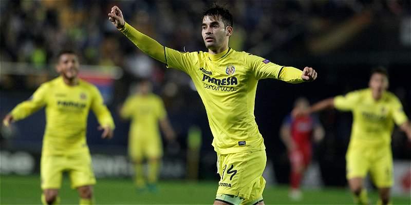 Villarreal, con Santos Borré 10 minutos, venció 2-1 al Steaua Bucarest