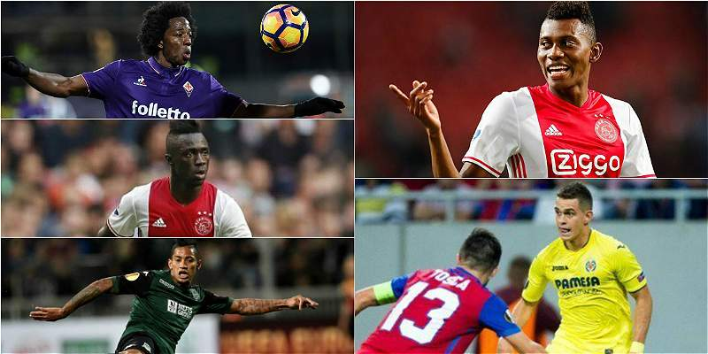 Cinco colombianos en los dieciseisavos de final de la Europa League