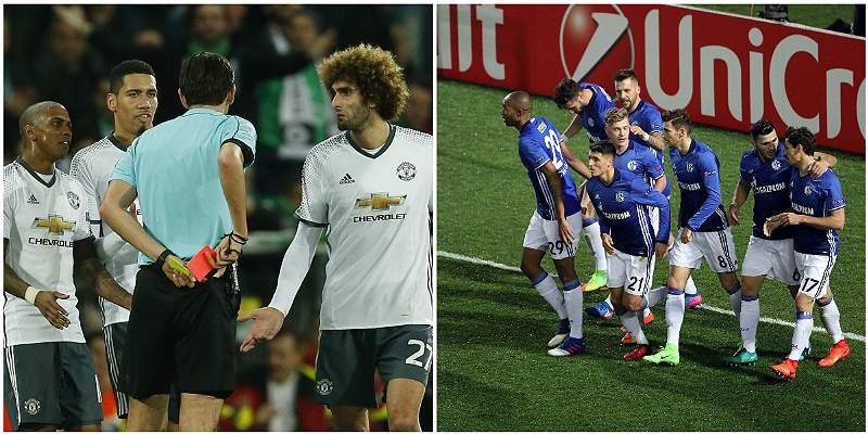 Manchester United y Schalke avanzaron a octavos de Europa League