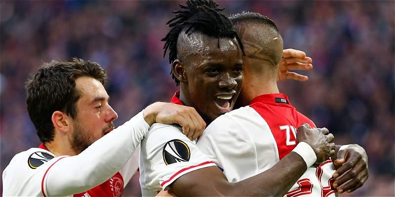 Ajax venció a Lyon en Europa League