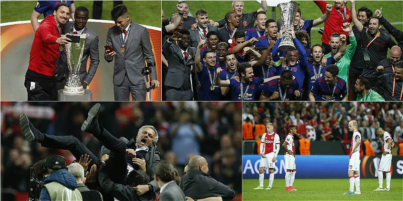 Manchester United campeón Europa League/COLLAGE