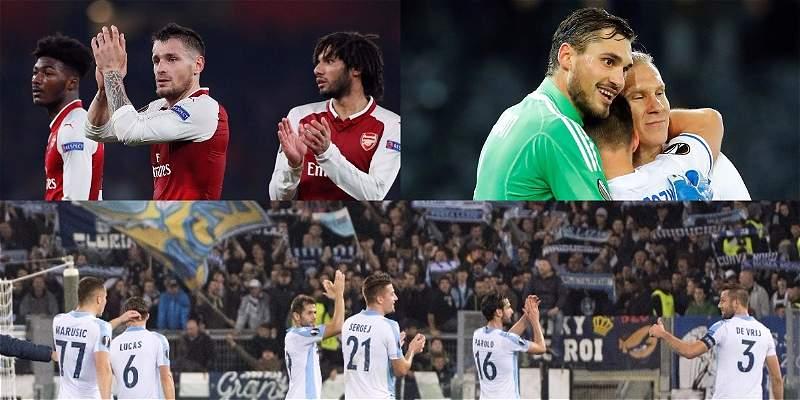 Arsenal, Lazio, Zenit y Dinamo Kiev ya están en dieciseisavos de final