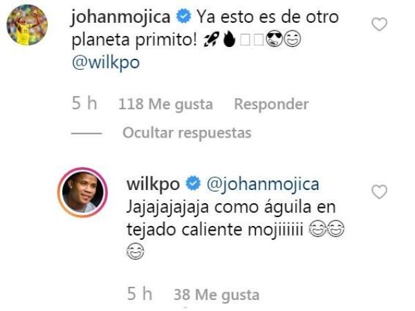 Wílmar Barrios respuestas