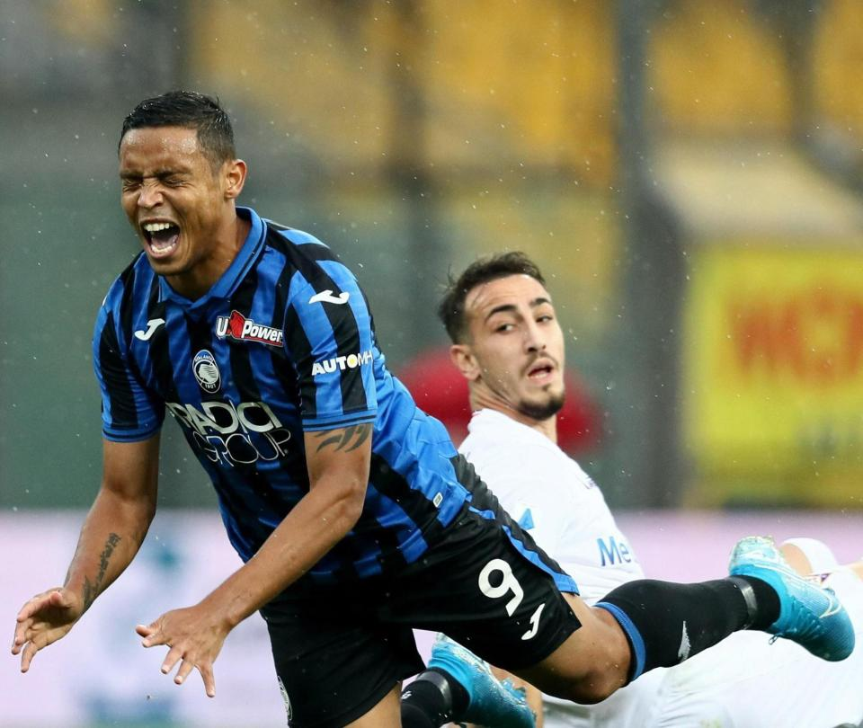 Duván Zapata y Luis Muriel en la derrota de Atalanta contra Fiorentina Franck Ribery | Serie A 2