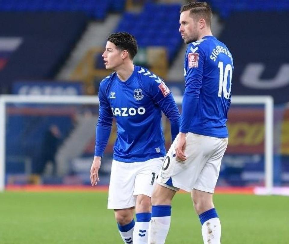James Rodríguez recibe elogios de Gylfi Sigurdsson, compañero en Everton: ve pases que nadie más ve   Premier League 1