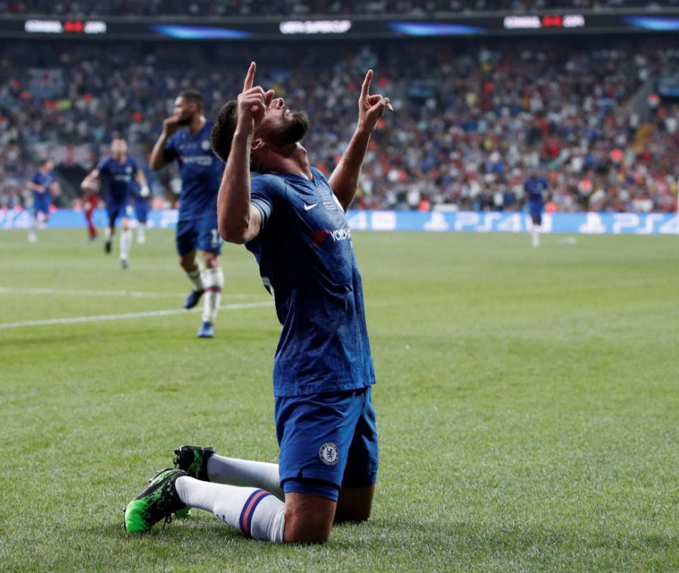 Toque sutil y a celebrar: el gol de Giroud en Chelsea vs. Man. United 2