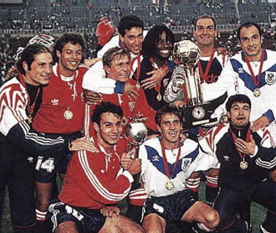 VIDEO: Independiente campeón de Recopa Sudamericana 1995 venció a Vélez Sarsfield | Palomo Usuriaga | Historias de futbol 1