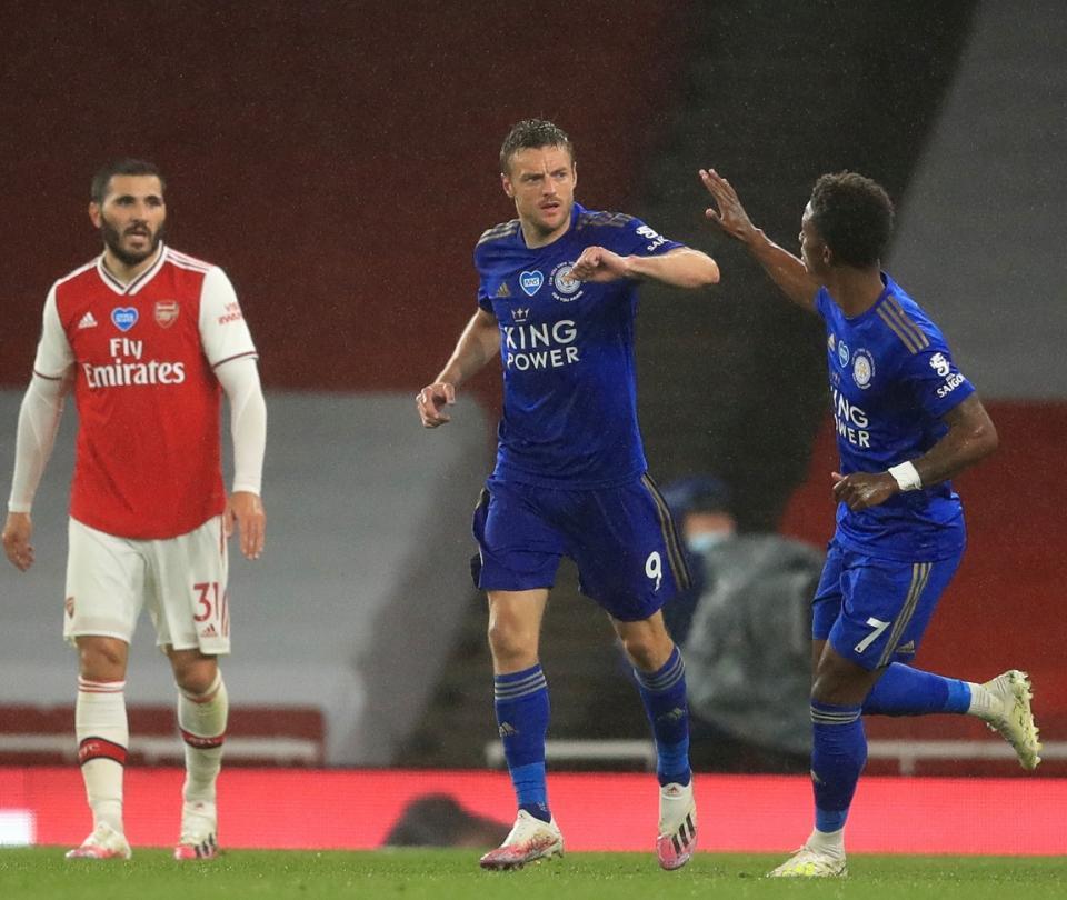 Arsenal vs Leicester 1-1 Premier League goles Vardy y Aubameyang   Noticias fútbol   Premier League 2