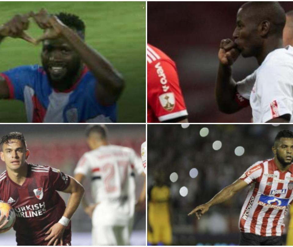 Los jugadores colombianos que marcaron gol en reinicio de Libertadores 1