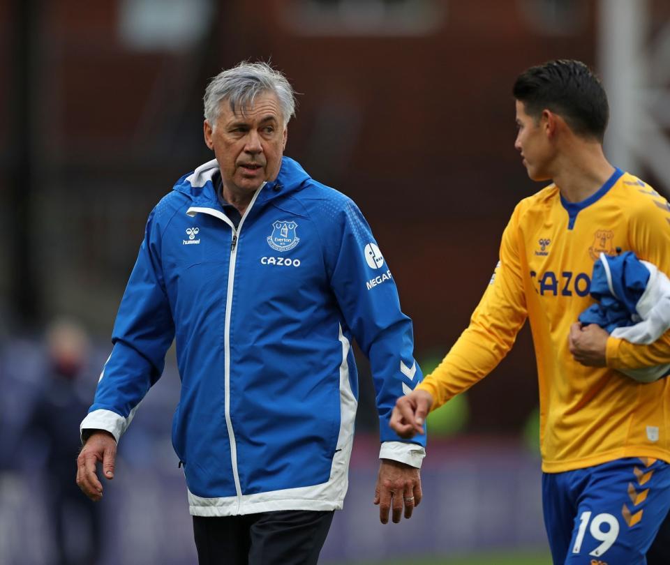 Premier League: Everton, con james apto contra Burnley, Ancelotti lo respalda, pierde a Coleman | Colombianos en el Exterior 1