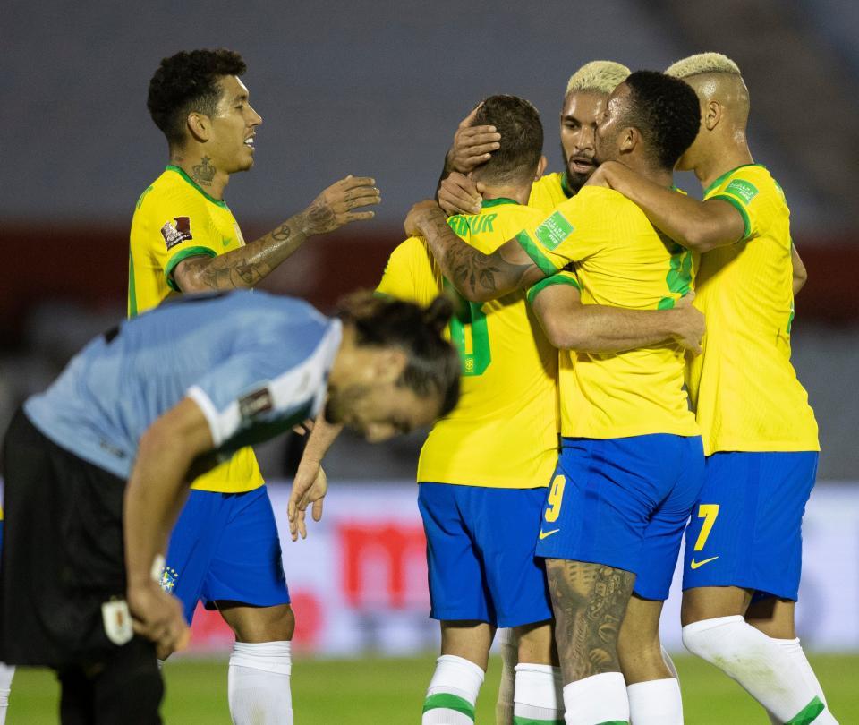 Brasil se impone en su visita a Uruguay: vea acá los goles del partido 1
