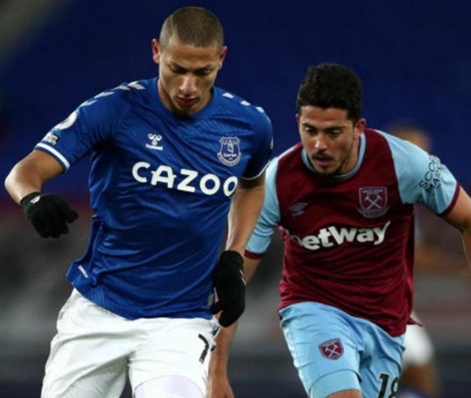 West Ham le cortó la racha a Everton: ganó 0-1 en Goodison Park 1