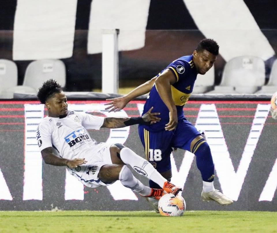Copa Libertadores: Balance de colombianos en Santos vs Boca Juniors, análisis, Fabra expulsado | Copa Libertadores 1