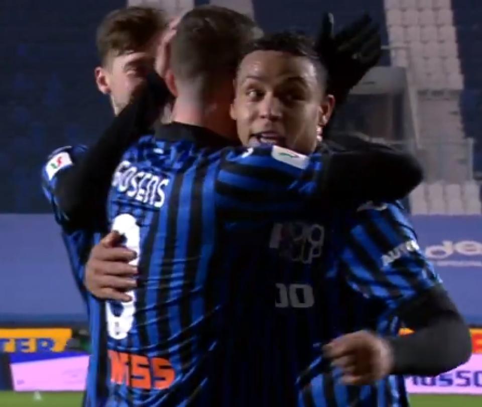 Qué noche la de Muriel en Copa Italia: gol y asistencia para Atalanta 1