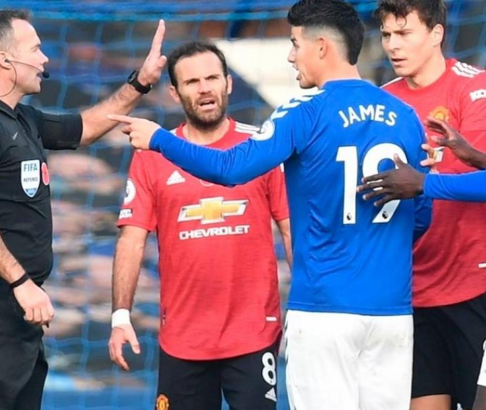 James Rodríguez en Old Trafford: EN VIVO Manchester United vs. Everton 1