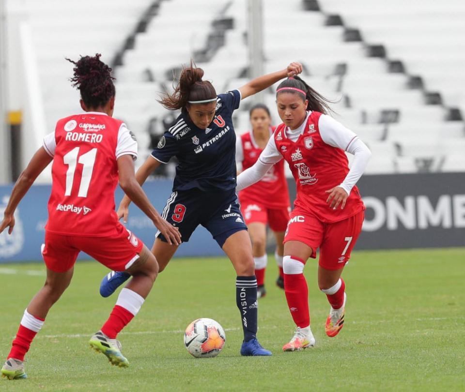 Santa Fe: derrota 1-3 contra Universidad de Chile crónica del partido Conmebol Libertadores Femenina   Copa Libertadores 1