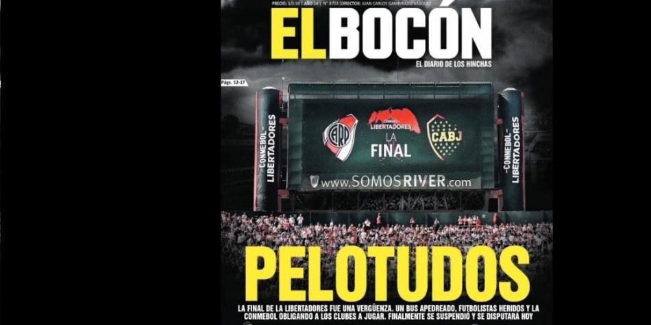 Pelotudos La Portada De El Bocón Sobre River Plate Vs Boca Juniors
